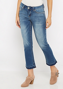 Sandblasted Cropped Jean
