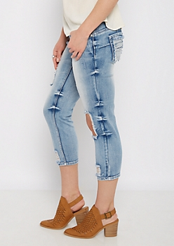 Blown-Out Knee Cropped Jean