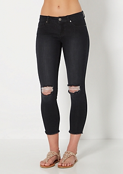 Black Split Knee Crops
