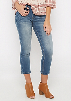 Sandblasted 2-Shank Cropped Skinny Jegging in Regular