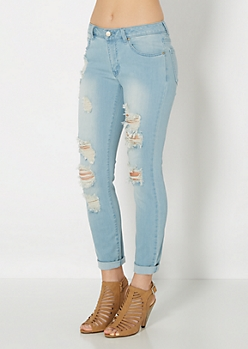 Light Rolled Cuff Jean Capri By Wild Blue x Sadie Robertson™