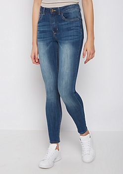 Washed Medium Blue High Rise Jegging in Regular