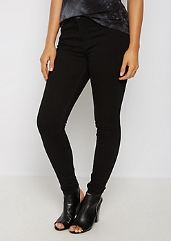 Black High Rise Jegging in Short