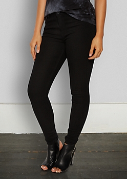 Black High Rise Jegging in Long