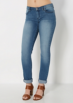 Freedom Flex Vintage Wash Skinny Jean  in Long