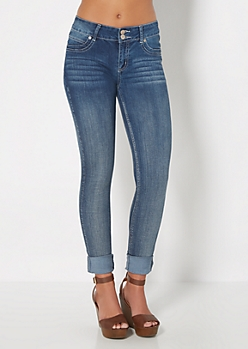 Whiskered Double Shank Jegging in Long