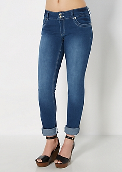 Freedom Flex Sandblasted Skinny Jean in Long