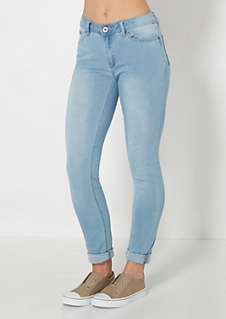 Freedom Flex Mid Rise Vintage Skinny Jean in Short