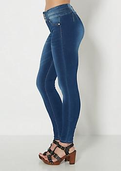 Better Booty Sandblasted 3-Shank Skinny Jean