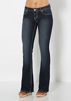 Embroidered Pocket Boot Jean in Short