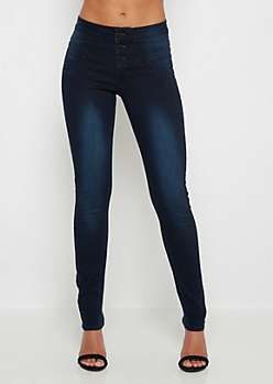3-Shank High Waist Freedom Flex Skinny Jean in Long