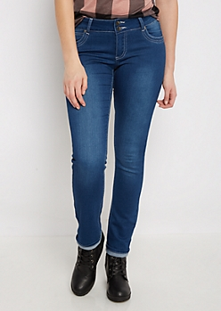 Flex Sandblasted 2-Shank Skinny Jean in Short