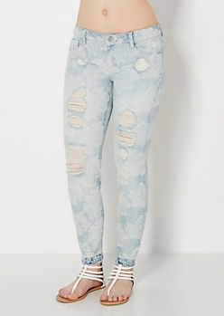 Boho Destroyed Skinny Jean