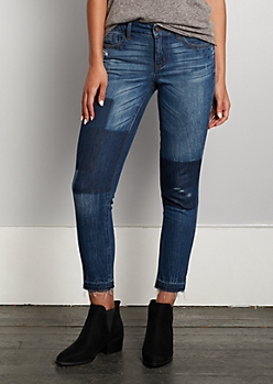 Shadow Patched Released Hem Jegging in Regular