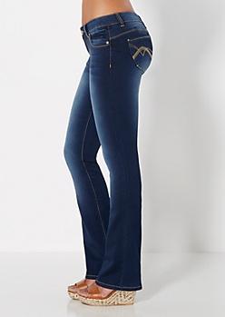 Better Booty Sandblasted Slim Boot Jean