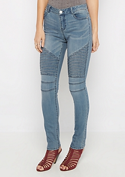 Flex Medium Vintage Moto Skinny Jean