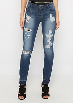 Flex Dark Ripped & Repaired Skinny Jean