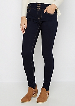 Flex Dark Blue High Waist Jegging