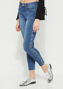 Grommet High Rise Jegging in Regular