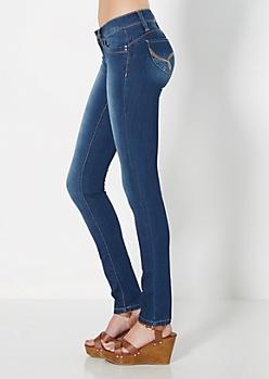 Better Booty Sandblasted Skinny Jean