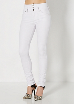 White High Waist Skinny Jean