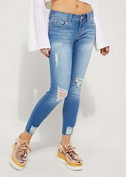 Vintage Destroyed Better Butt Ankle Skinny Jean