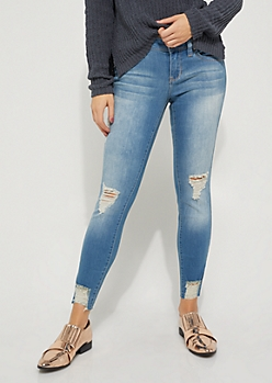 Sandblasted Destroyed Better Ankle Skinny Jean