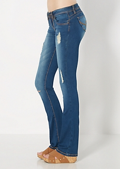 Blue Better Booty Boot Jean