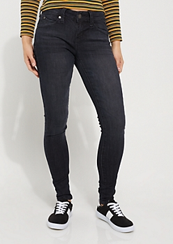 Black Washed Better Butt Skinny Jean in Regular