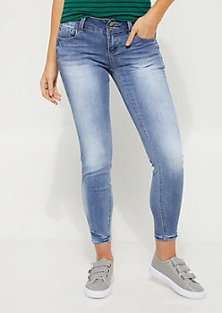 Sandblasted Soft Ankle Skinny Jean in Regular