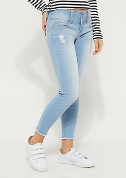 Vintage Frayed Better Butt Ankle Skinny Jean in Regular