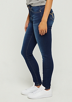 Sandblasted Better Butt Skinny Jean in Regular