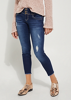 Dark Blue Destroyed Better Ankle Skinny Jean