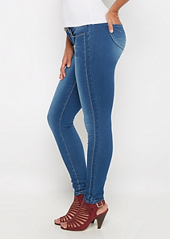 Medium Sandblasted Slimmer Jegging