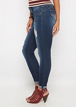 Better Butt Dark Ripped Skinny Jean