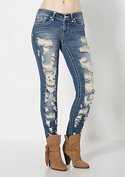 Vintage Destroyed Skinny Jean