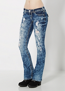 Extreme Wash & Ripped Slim Boot Jean
