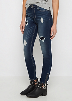 Flex High Waist Zip Ankle Cropped Jegging