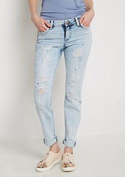 Flex Extreme Wash Destroyed Skinny Jean