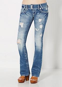 Destroyed Vintage Slim Boot Jean