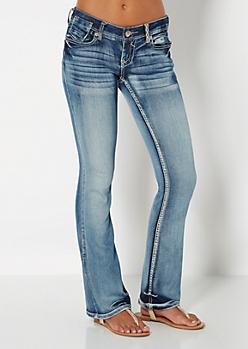 Sandblasted Slim Boot Jean in Short