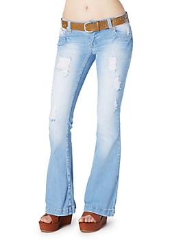 Destroyed Fit & Flare Jean