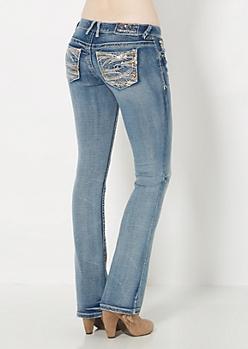 Vintage Sequined Slim Boot Jean