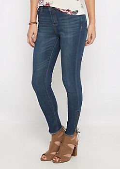 Flex High Waist Zip Ankle Skinny Jean