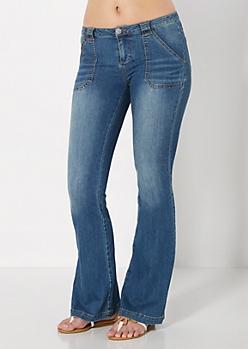 Vintage Flare Jean in Short