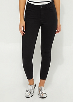 Black Wash Soft Knit Jeggings