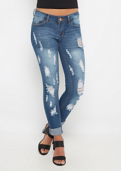 Scratched & Torn Vintage Skinny Jean