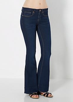 Dark Blue Flared Jean