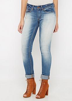 Flex Sandblasted & Distressed Skinny Jean