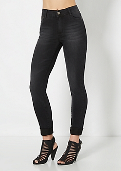 Black Sandblasted Jegging